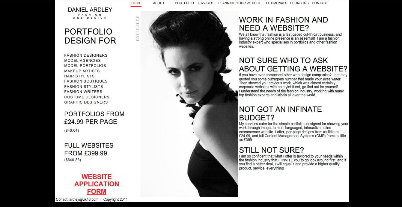 Daniel Ardley / Portfolio » UK46 – Fashion Web Design